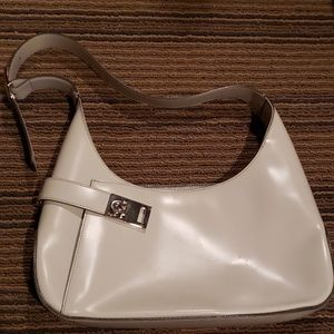 White Salvatore Ferragamo Leather Bag